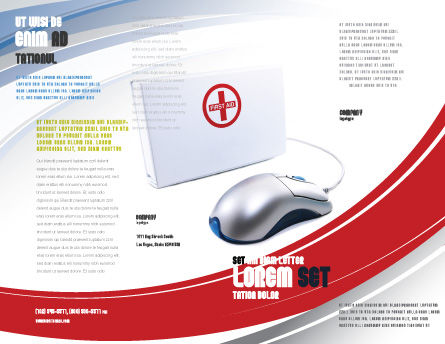 Computer Diagnostics Brochure Template, Outer Page, 05964, Medical — PoweredTemplate.com