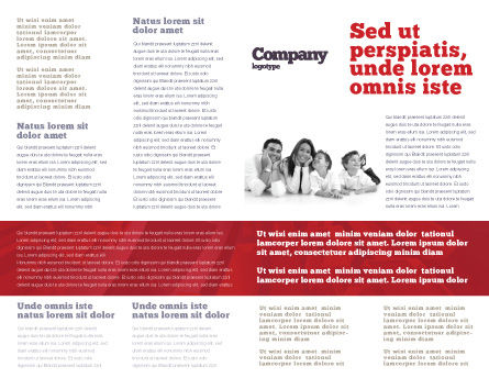 3D Family Brochure Template Inner Page