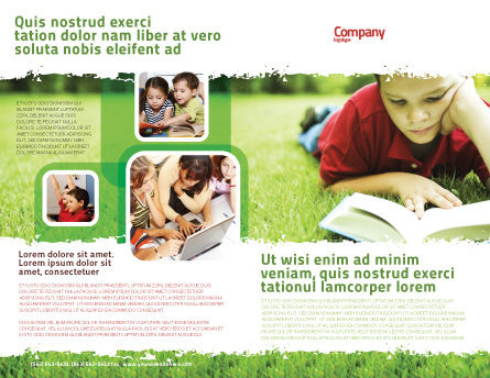 Reading On Summer Vacations Brochure Template Outer Page