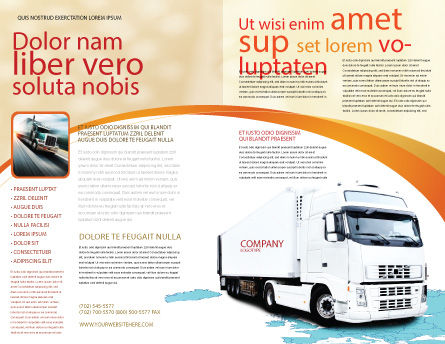 Truck Tractor Brochure Template, Outer Page, 05987, Cars/Transportation — PoweredTemplate.com