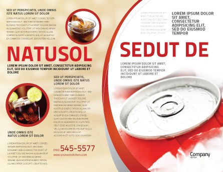 Soda Cans Brochure Template, Outer Page, 06003, Food & Beverage — PoweredTemplate.com