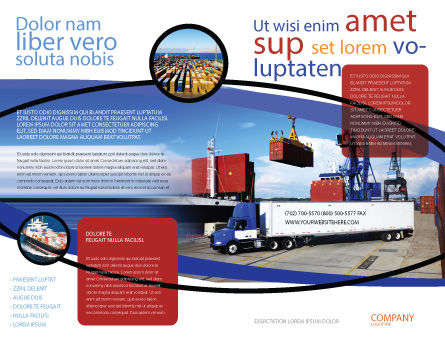 Seaport Brochure Template Outer Page