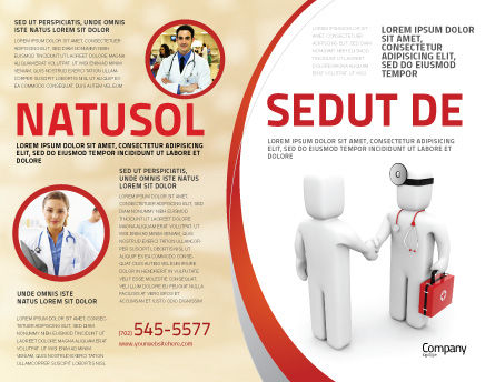 Patient and Doctor Brochure Template, Outer Page, 06021, Medical — PoweredTemplate.com