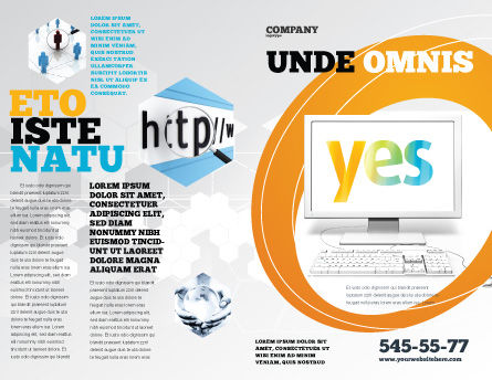 Yes Computer Brochure Template, Outer Page, 06031, Technology, Science & Computers — PoweredTemplate.com