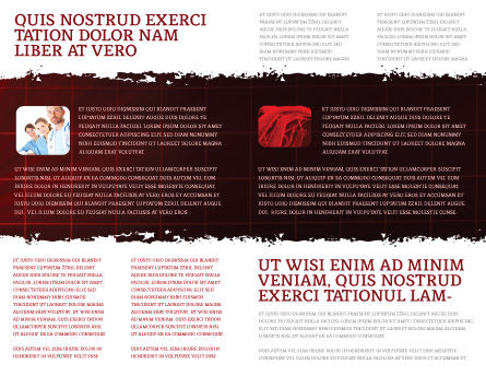 Heart Rhythm Brochure Template, Inner Page, 06036, Medical — PoweredTemplate.com