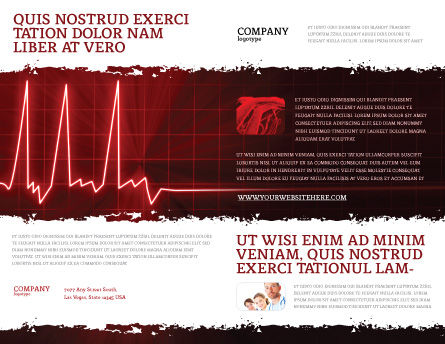 Heart Rhythm Brochure Template, Outer Page, 06036, Medical — PoweredTemplate.com