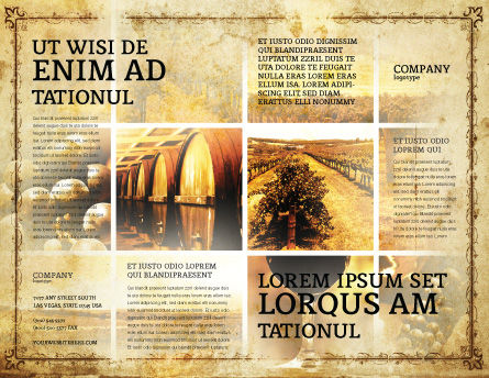 Winegrowing Brochure Template, Outer Page, 06049, Agriculture and Animals — PoweredTemplate.com