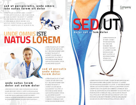 Physician Brochure Template, Outer Page, 06055, Medical — PoweredTemplate.com