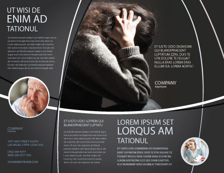 Depression Brochure Template, Outer Page, 06062, Medical — PoweredTemplate.com