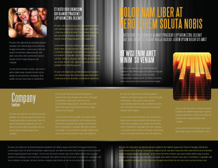 Music Stave Brochure Template Inner Page