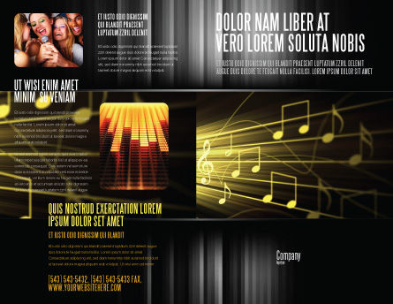 Music Stave Brochure Template Design and Layout Download Now – Music Brochure