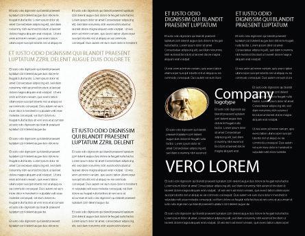 Vitruvian Man By Leonardo da Vinci Brochure Template, Inner Page, 06107, Education & Training — PoweredTemplate.com