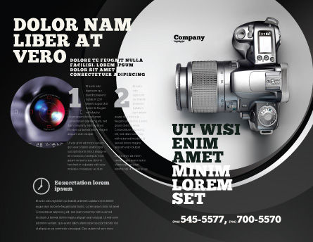 Digital Photo Camera Brochure Template, Outer Page, 06121, Careers/Industry — PoweredTemplate.com