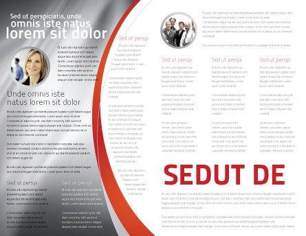 Public Speaker Brochure Template, Inner Page, 06124, Careers/Industry — PoweredTemplate.com