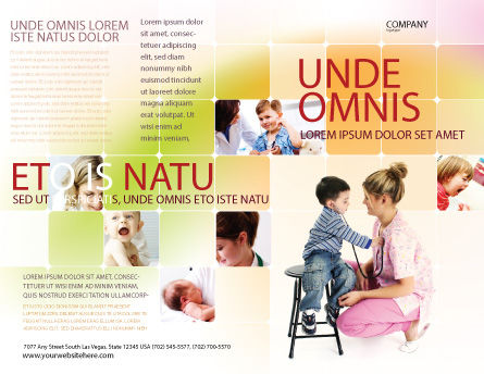 Paediatrics Brochure Template, Outer Page, 06125, Medical — PoweredTemplate.com