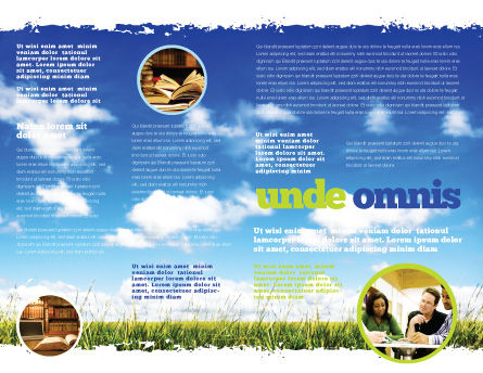 Book Pile Brochure Template Inner Page