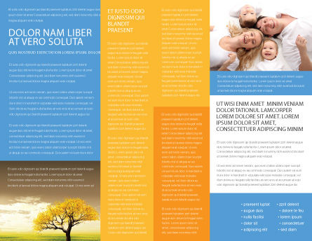 Family Happiness Brochure Template, Inner Page, 06199, People — PoweredTemplate.com