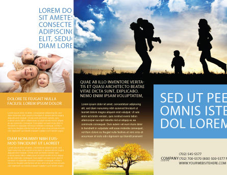 Family Happiness Brochure Template, Outer Page, 06199, People — PoweredTemplate.com