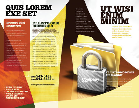 Secure Data Brochure Template, Outer Page, 06217, Careers/Industry — PoweredTemplate.com