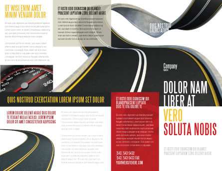 High Way Brochure Template Outer Page