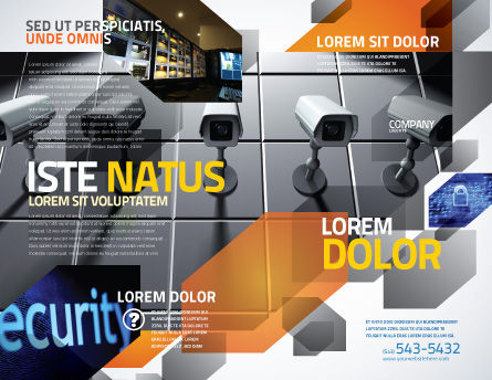 Monitoring Camera Brochure Template, Outer Page, 06226, Careers/Industry — PoweredTemplate.com