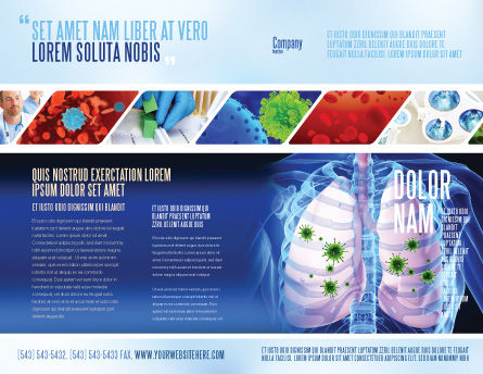 Pulmonology Brochure Template, Outer Page, 06243, Medical — PoweredTemplate.com