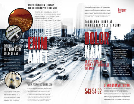 City Highway Brochure Template Outer Page
