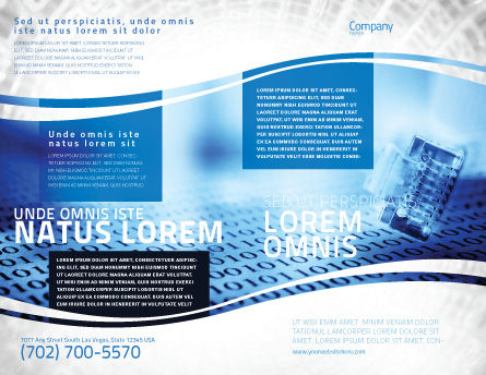 Digital Life Brochure Template, Outer Page, 06265, Technology, Science & Computers — PoweredTemplate.com
