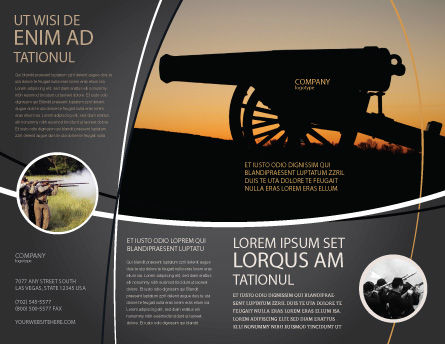 Alamo Sunset Brochure Template, Outer Page, 06269, Military — PoweredTemplate.com