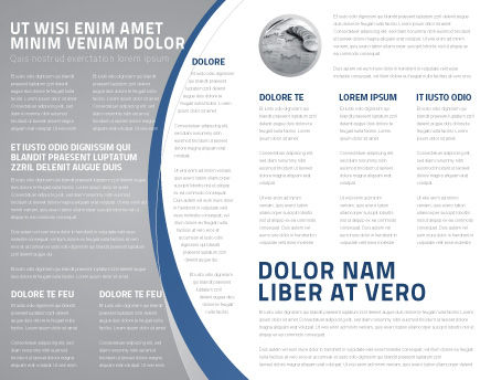 World Outlook Brochure Template, Inner Page, 06277, Global — PoweredTemplate.com