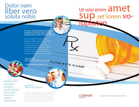 Medical Records In Data Base Brochure Template, Outer Page, 06278, Medical — PoweredTemplate.com