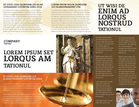 Lady Justice Brochure Template Inner Page