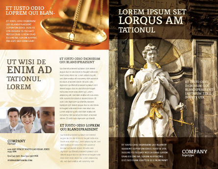 Lady Justice Brochure Template, Outer Page, 06281, Legal — PoweredTemplate.com