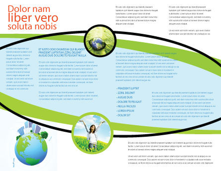 Green City Brochure Template, Inner Page, 06283, Nature & Environment — PoweredTemplate.com