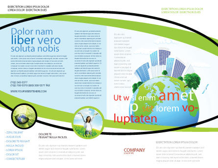 Green City Brochure Template Outer Page