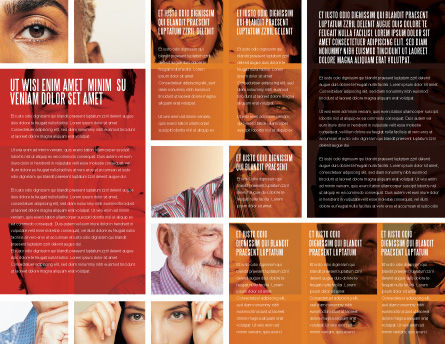 Human Emotions Brochure Template, Inner Page, 06290, People — PoweredTemplate.com