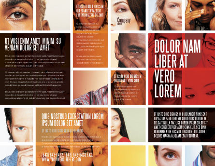 Human Emotions Brochure Template, Outer Page, 06290, People — PoweredTemplate.com