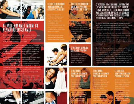 Sport Gym Brochure Template, Inner Page, 06294, Sports — PoweredTemplate.com