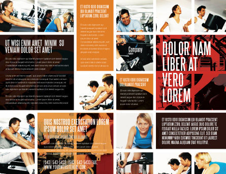 Sport Gym Brochure Template, Outer Page, 06294, Sports — PoweredTemplate.com