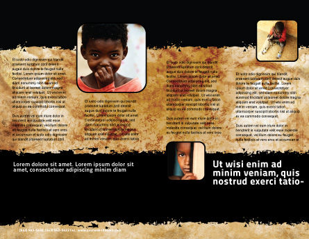 Children Around The World Brochure Template, Inner Page, 06312, People — PoweredTemplate.com
