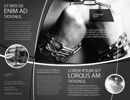 Chained Man Brochure Template Outer Page