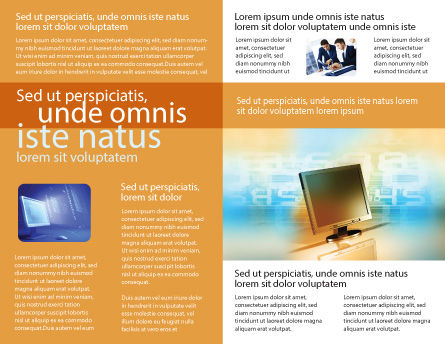 Computer Media Brochure Template Inner Page