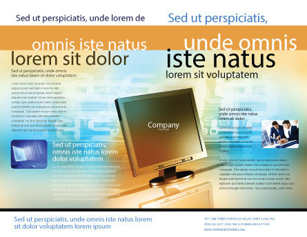 Computer Media Brochure Template Outer Page