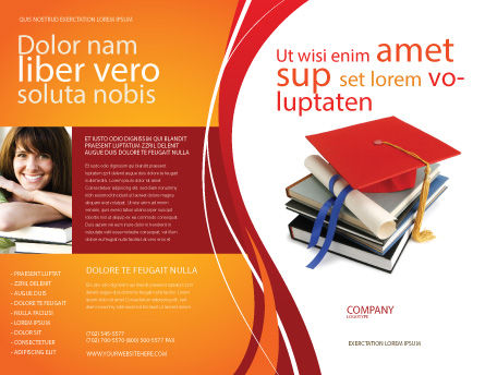 Higher Education Brochure Template Outer Page