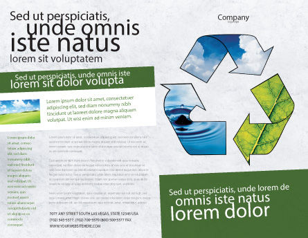 Recycle Brochure Template, Outer Page, 06325, Nature & Environment — PoweredTemplate.com