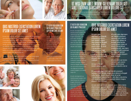Ageing Brochure Template, Inner Page, 06349, Medical — PoweredTemplate.com