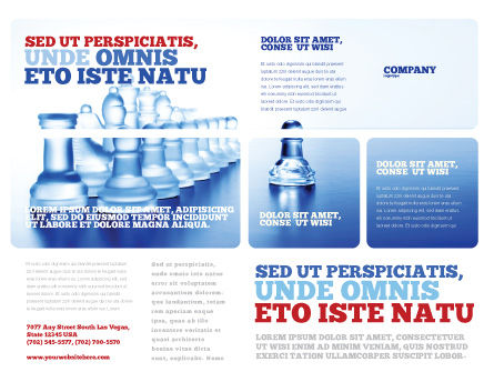 Glass Chess Brochure Template, Outer Page, 06365, Business Concepts — PoweredTemplate.com