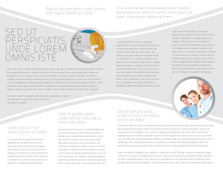 Medical Record For Analysis Brochure Template, Inner Page, 06369, Medical — PoweredTemplate.com
