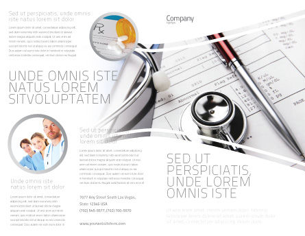 Medical Record For Analysis Brochure Template, Outer Page, 06369, Medical — PoweredTemplate.com