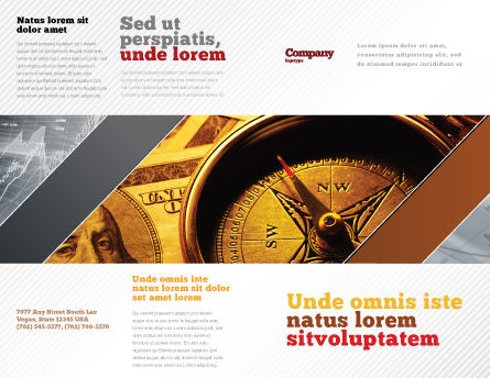 Money Compass Brochure Template, Outer Page, 06377, Consulting — PoweredTemplate.com